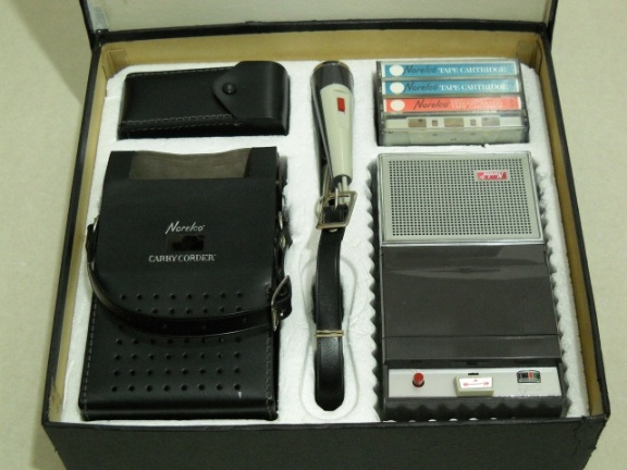 ++  1964.f.  Norelco 150 - first compact-cassette (TM) recorder made by Philips for USA