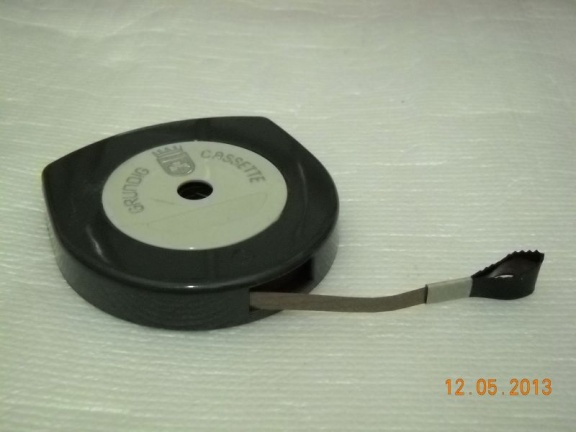 "++ 1962.d.c.  Grundig Cassette - first tape reel we met the word ""cassette"""