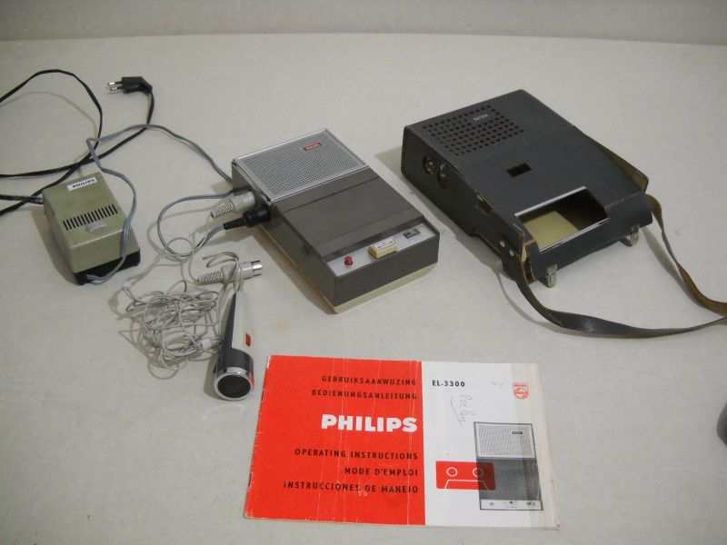 "+++  1963.a. Philips EL3300 - world's first ""compact-cassette""recorder - the classic starting point of ""cassette"" era"